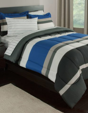 Rugby Stripe Complete Bedding Set