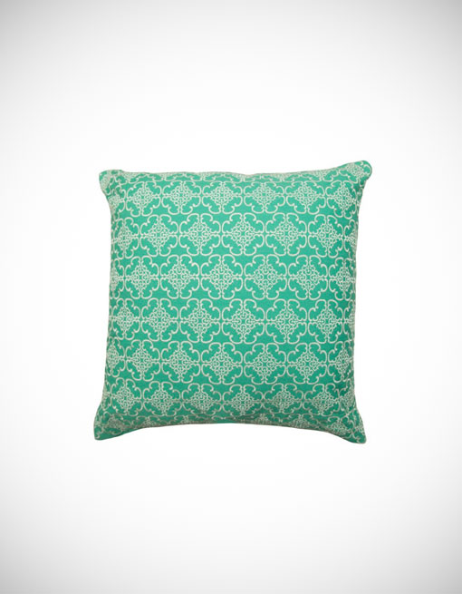 Rio Square Decorative Pillow Aqua