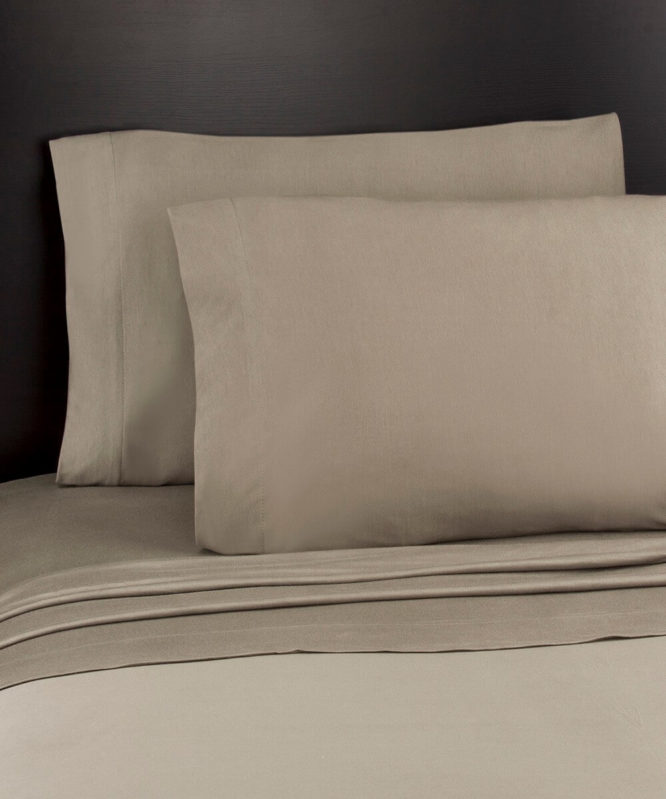 Soft Tees Jersey Knit Sheet Set Taupe